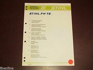 Stihl Hedge Trimmer Pruner Spare Parts List Diagram Manual