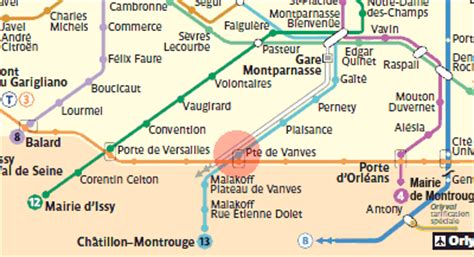 porte de vanves station map metro