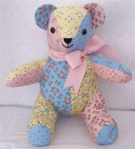 patchwork bear vintage doll  kids toys teddy bear