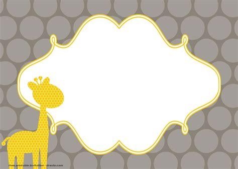 giraffe birthday  baby shower invitation templates