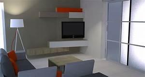 mobilier sur mesure caroline fabreguette With meubles tv sur mesure