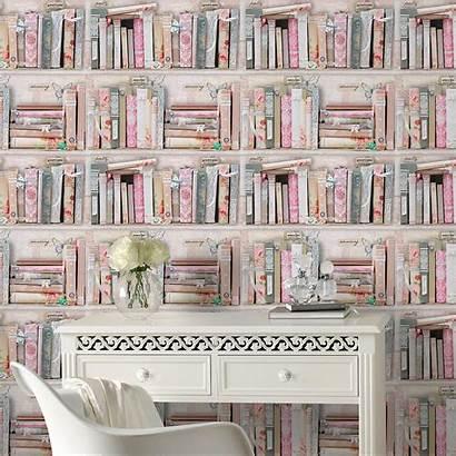 Collage Bookcase Fresco Graham Brown