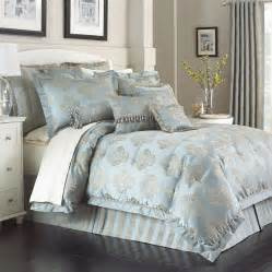 marquis by waterford hadley blue 4 pc jacquard comforter set shopstyle home