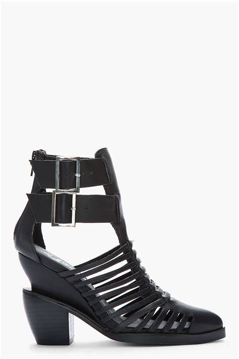jeffrey campbell ankle boots  black lyst