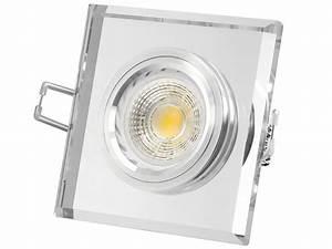Led Einbaustrahler Glas : moderner led einbaustrahler aus glas quadratisch klar spiegelnd led 3 5w warmwei gu10 230v ~ Eleganceandgraceweddings.com Haus und Dekorationen