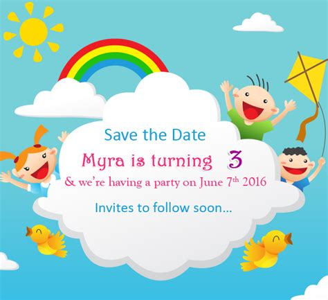 save  date cards birthday party save  date