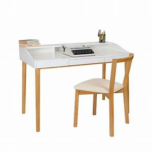 Bureau Design Scandinave Chne Et Laque Lindenhof Drawer