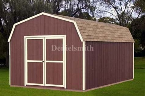 12 x 16 barn storage shed plans buy it now get it fast