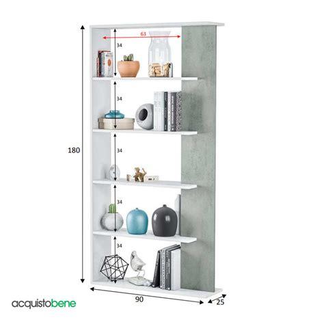 mobile scaffale mobile libreria scaffale verticale con 5 ripiani bicolore