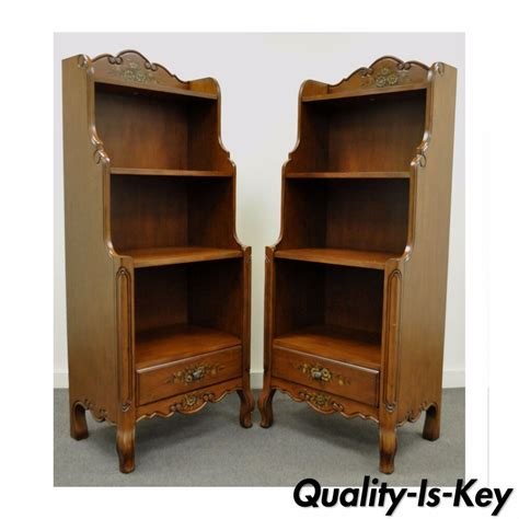 country bookcases pair contemporary country style carved bookcase