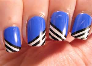 Nail designs black and blue images