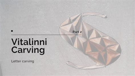 vitalinni carving tutorials chip carving letter