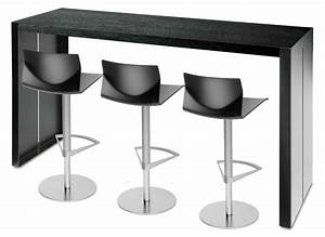 Table Haute 110 Cm : table haute panco h 110 cm l 180 cm l 180 cm noir lapalma made in design ~ Teatrodelosmanantiales.com Idées de Décoration