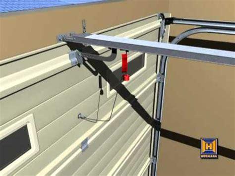 hormann garage door emergency release youtube