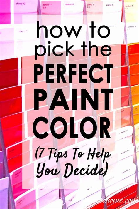 how to choose the right paint color 7 steps to help you