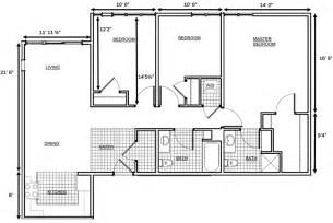 Bedroom Floor Plan With Dimensions by 3 Bedroom House Floor Plan Dimensions Search