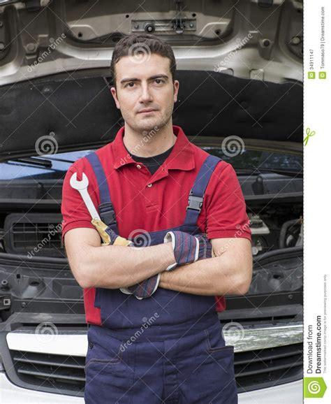 Confidence Mechanic Portrait Royalty Free Stock