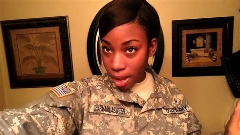 military hairstyle options  afro amer females youtube