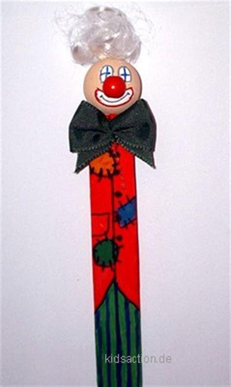 bastelnkidsactionde lesezeichen clown aus