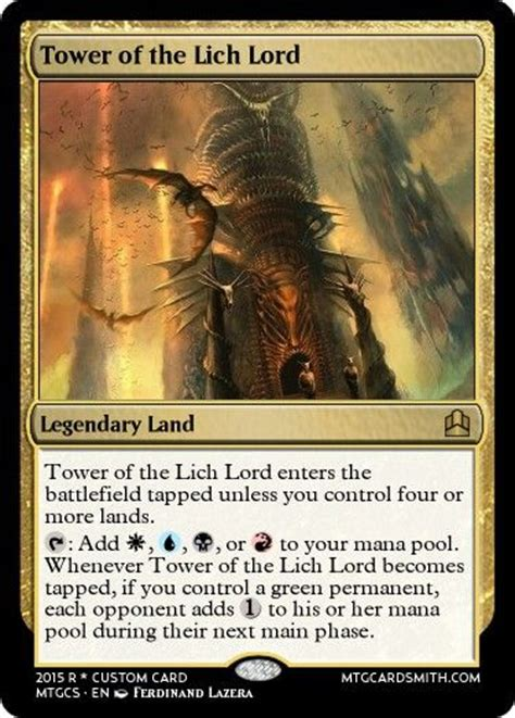 land deck edh 4 color edh land cycle attempt 1 created cards