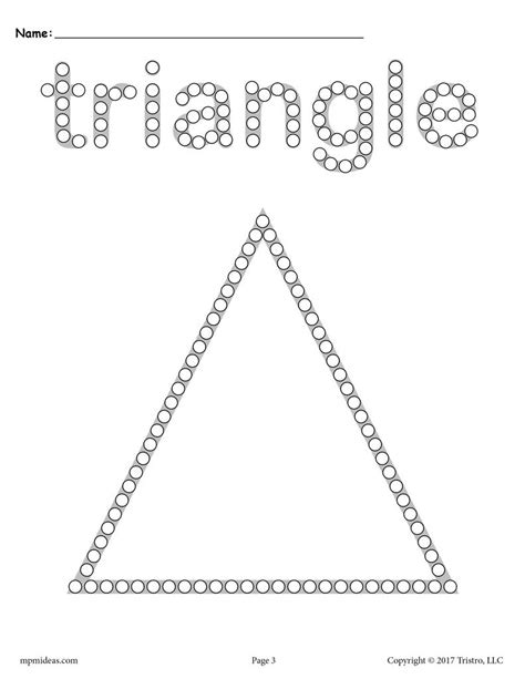 free triangle q tip painting printable triangle 402 | Shapes 20Q Tip 20pages triangle 1024x1024