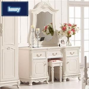 Coiffeuse Blanche Moderne : haut de gamme de mariage moderne coiffeuse meubles de maison blanc commodes avec table pour ~ Teatrodelosmanantiales.com Idées de Décoration