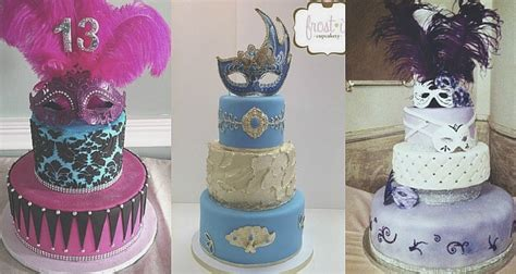 Masquerade Themed Quince Cakes For Every Color Scheme