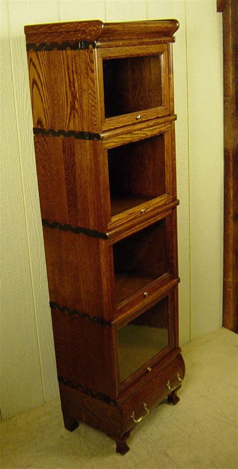 rare  section miniature macey  stacking oak bookcase