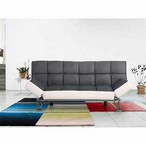 Canapé Clic Clac Cdiscount : canap convertible clic clac microfibre grise simili blanc achat vente canap sofa ~ Teatrodelosmanantiales.com Idées de Décoration