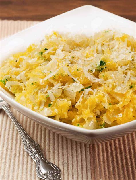 Spaghetti Squash With Sauteed Onion Garlic Recipe