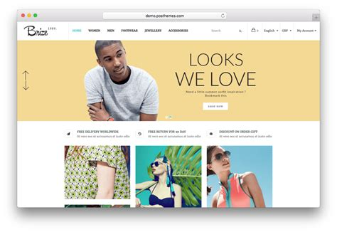 brize template 15 best prestashop fashion themes for online clothing