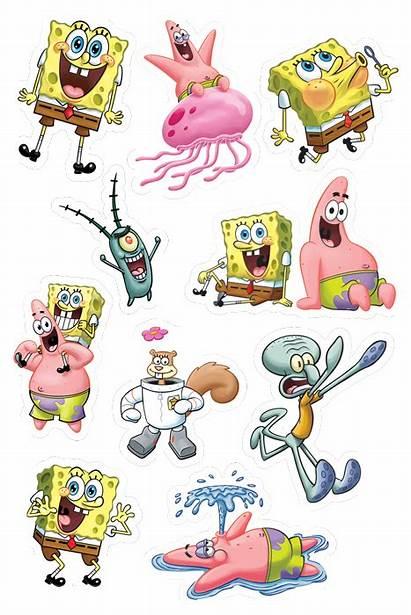 Spongebob Stickers Squarepants Patrick Squidward Krew Ready