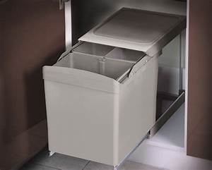 Conteneur Poubelle Brico Depot : poubelle tri s lectif 2 bacs 2x21 l brico d p t ~ Melissatoandfro.com Idées de Décoration