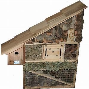 Nichoir A Insecte : hotel pour insectes avec nichoir oiseau en bois insecte ~ Premium-room.com Idées de Décoration