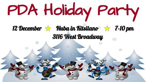 pda social christmas celebration nuba updated rsvp extended