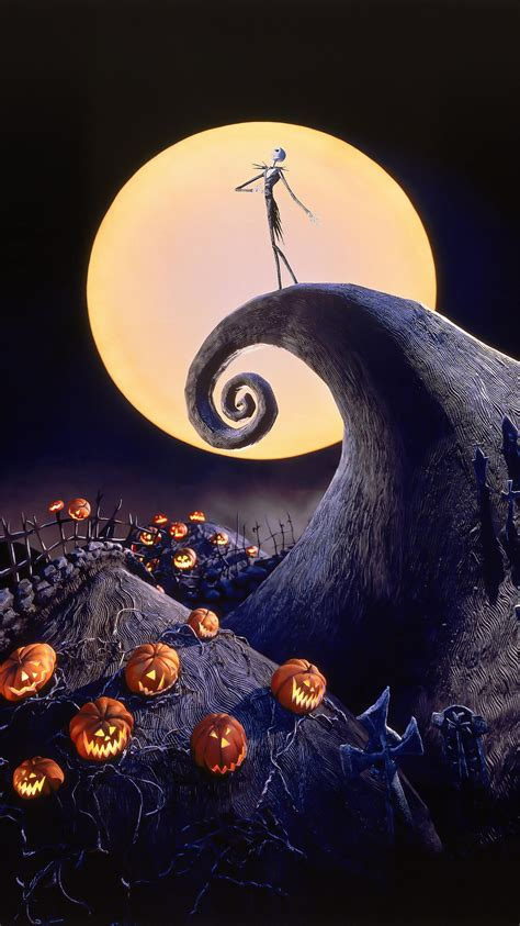 Background High Resolution Nightmare Before Wallpaper by The Nightmare Before 1993 Phone Wallpaper