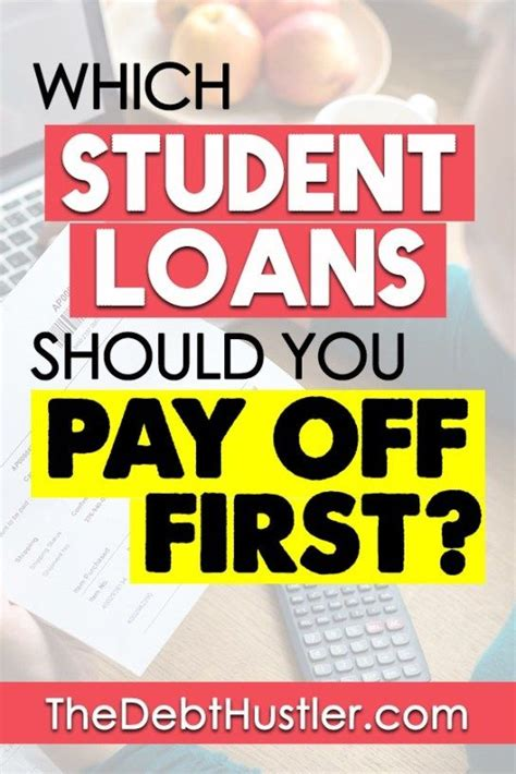 Pay off the card with the smallest balance first, then take the money you were paying for that debt and use it to pay down the next smallest balance. Student Loans: Which Ones Should You Pay Off First | Student loans, Paying off student loans ...