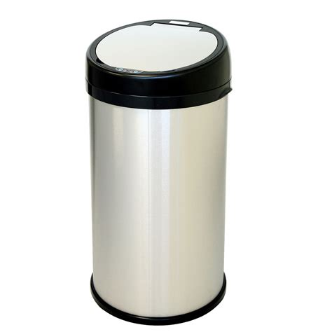 13 Gallon Sensor Touchless Trash Can In Kitchen Trash Cans