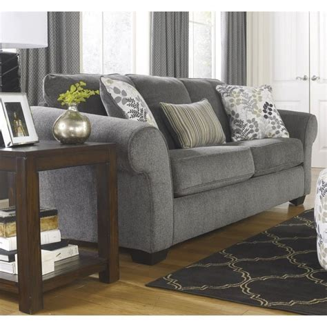 Makonnen Charcoal Sofa Loveseat by Makonnen Chenille Sofa In Charcoal 7800038