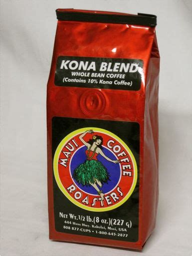 Ours is 100% organic coffee from maui coffee roasters. Kona Blend Maui Coffee Roasters - Island Gifts