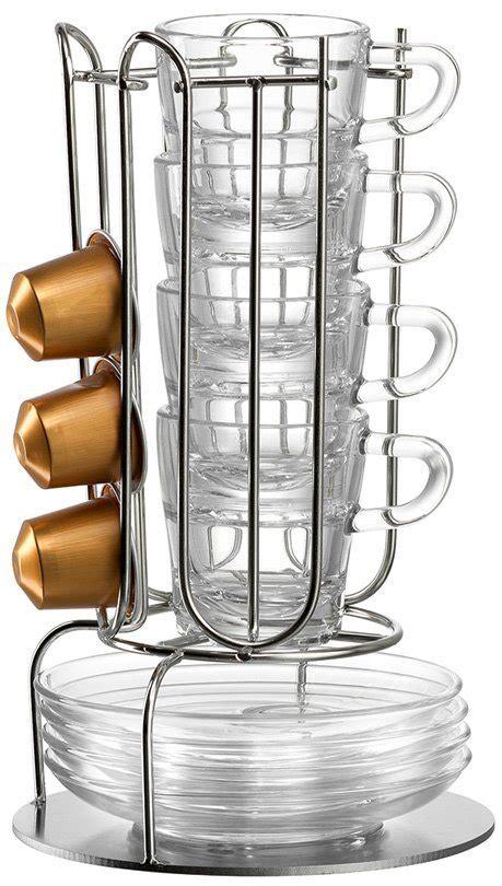 espressotassen glas leonardo leonardo tassenst 228 nder set 9 teilig kaufen otto