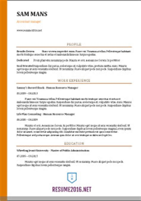 Hobby Projects In Resume by Accountant Resume Sle 2016