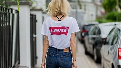 Levi Levis Jeans Strauss Denim Camiseta Jean
