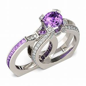 jeulia interchangeable round cut created lilac amethyst With jeulia wedding ring sets
