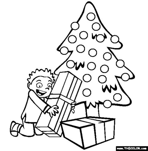 betty page under the christmas tree coloring pages page 1