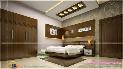 awesome master bedroom interior kerala home design  floor plans