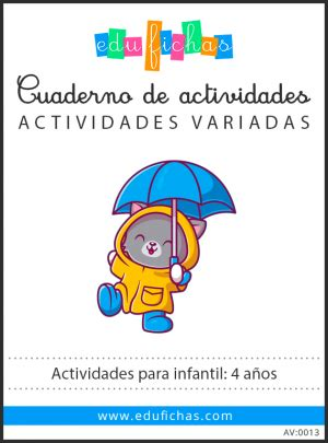 Educación Infantil. Fichas para niños de 3, 4 y 5 Años.【PDF】