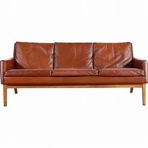 Canapé Vintage Cuir : canap vintage scandinave en cuir marron 1960 design market ~ Teatrodelosmanantiales.com Idées de Décoration