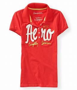 Aeropostale Womens Embroidered Logo Polo Shirt | Womens ...