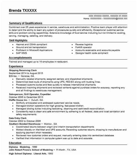 Shipping Clerk Resume by Shipping Receiving Clerk Objectives Resume Objective